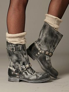 women's+frye+boots | Free People Rogan Engineer Boot by Frye at Free People Clothing ...