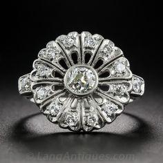 Vintage Platinum and Diamond Cocktail Ring $2,750.00