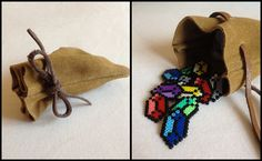 The Legend of Zelda - Rupee Bag hama mini beads by PixelPlastik on deviantart