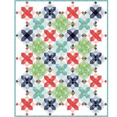 Hazelwood Snowflakes KIT - Moda - King Size Quilt Kit - One Canoe Two by Jambearies on Etsy Snowflake Quilt, Snowflakes, Spool Quilt, Plus Quilt, Quilt Top, Kit S, King Size Quilt, Quilt Sizes, Scrappy Quilts