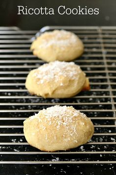 Homemade ricotta cookies are an Easter tradition in my family. This is a light, healthy dessert recipe with a delicious, cake-like texture.