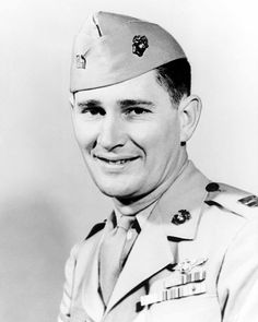 Joe Foss, Medal of Honor recipient, highest scoring Marine ace of WW2, Commissioner of AFL, and two time president of the NRA.