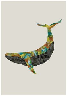 Sperm Whale by Monique van Uden, (doesn't look like a sperm whale to me - his head is too pointy)