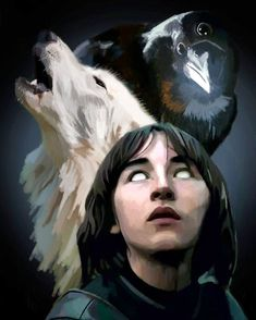 """You will never walk again, but you will fly."" - Three-eyed raven Bran Stark - by Calvin Araracap"
