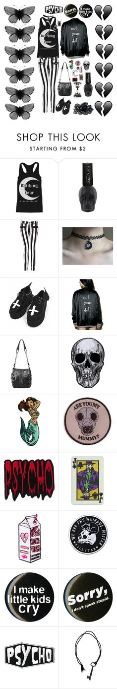 """""""Black Hearts."""" by x-shadow-phoenix-x ❤ liked on Polyvore featuring Witchery, Killstar, GAS Jeans and Valfré"""