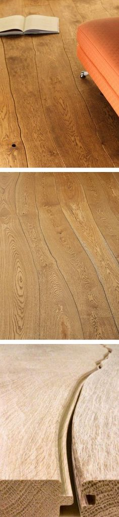 In love with this naturally curved tongue-and-groove wood flooring from Bolefloor.  Just gorgeous (and subtle).