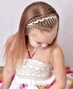 #PEINADOS Y #TRENZAS PARA NIÑAS 🥰 🤗 😍 #FASHION #BELLEZA #PRINCESAS #HAIRSTYLES Childrens Hairstyles, Cute Hairstyles For Kids, Kids Hairstyle, Toddler Hairstyles, Fishtail Hairstyles, Girl Hairstyles, Fashion Hairstyles, Waterfall Hairstyle, Amber Hair