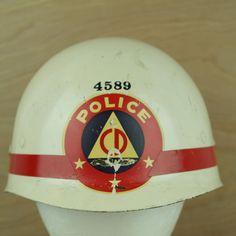 WW2 Civil Defense Police White Helmet: Rare VTG Lightweight Hard Hat Style 4589 #UnbrandedGeneric