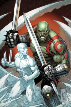 All New X-Men: Trial of Jean Grey & Guardians of the Galaxy - Ice Man and Drax by Dale Keown *