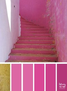 Gold and pink color