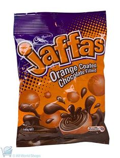 Jaffas are a popular New Zealand chocolate confectionery made by the Cadbury chocolate factory. New Zealand Online Shopping. New Zealand Food And Drink, New Zealand Image, Cadbury Chocolate, New Zealand Houses, Kiwiana, All Things New, Kids Growing Up, Food N, Kakao