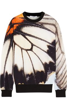 Sweatshirt in cotton-terry with butterfly print