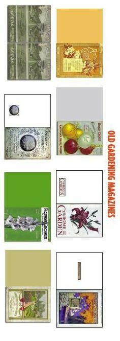 Miniature gardening magazine printable for the dollhouse garden