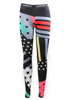 Stars & Stripes Leggings by Royal Mint
