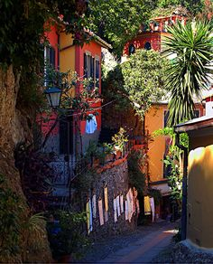 Ligurian colours, Portofino, Italy (by Sergiom).province of Genoa, Liguria region