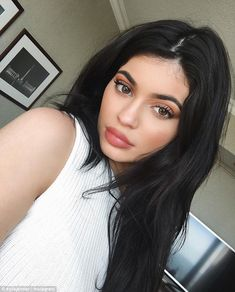 Who needs a glam squad? Kylie Jenner, 18, showed her Snapchat followers exactly how she created the make-up look seen here, calling it 'low-key hard'