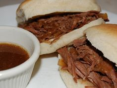 Anne Strawberry: French Dip Sandwiches (Cross Rib Roast Idea)