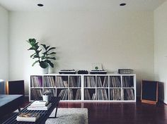 @notmargarine's home set-up via @thevinylfactory. . #FACTVinylCollections . : Submit your collection by tagging your pics with #FACTVinylCollections.