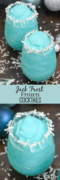 A Winter wonderland in a cup, these Jack Frost Frozen Winter Cocktails are the tastiest way to decompress from the stress of the season. Sip-able, shareable, incredible- it's a sure showstopper that will impress any guests.