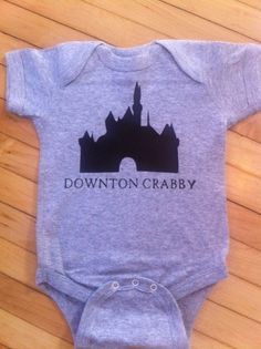 Funny Downton Abbey Downton Crabby Baby Onesie- Pick Your Color. Pick Your Size.. $12.00, via Etsy.