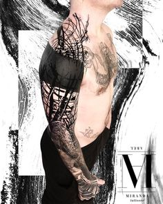 full sleeve tattoos with meaning Fake Tattoos, Hot Tattoos, Black Tattoos, Body Art Tattoos, Tattoos For Guys, Full Sleeve Tattoo Design, Arm Sleeve Tattoos, Arm Band Tattoo, Blitz Tattoo