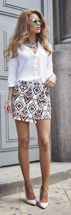 Aztec Skirt Chic Style by Nada Adellè