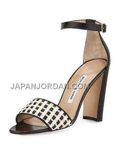 http://www.japanjordan.com/manolo-blahnik-laurato-woven-anklewrap-sandal-black-white.html 送料無料 MANOLO BLAHNIK LAURATO WOVEN ANKLE-WRAP SANDAL 黑 白 Only ¥22,895 , Free Shipping!