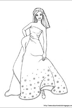 barbie dress up coloring pages - 1000 images about barbie coloring pages on pinterest