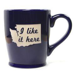 I Like it Here State Mug - Washington - Bread and Badger Gifts