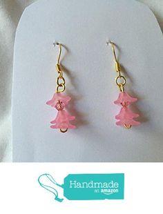 Pink Flower Earrings from Southern Women Crafts http://www.amazon.com/dp/B01CIPE7JY/ref=hnd_sw_r_pi_dp_v4w.wb0M9B7XA #handmadeatamazon