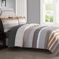London Fog Abbington Stripe 7-Piece Bed In a Bag with Sheet Set