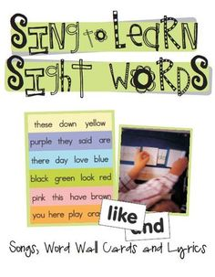 Sing to Learn Sight Word Songs