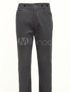 Popular Gray Cotton Mens Victorian Trousers (Order Tailored fit)