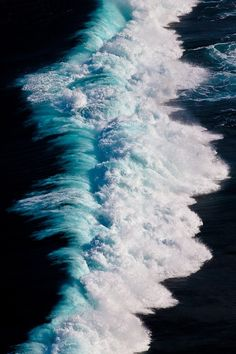 Gorgeous Blue Foamy Waves