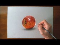 Realistic drawing - how to draw an apple