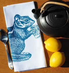 Set of Four Chipmunk Cloth Napkins  $24 Click Here: https://www.etsy.com/listing/205188843/cloth-napkins-eco-friendly-screen?utm_source=Pinterest&utm_medium=PageTools&utm_campaign=Share