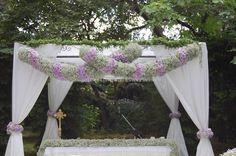 Altare per nozze all'aperto