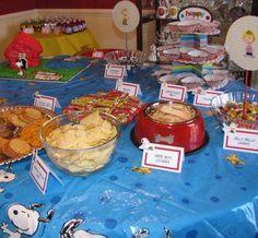 Charlie Brown Food Table