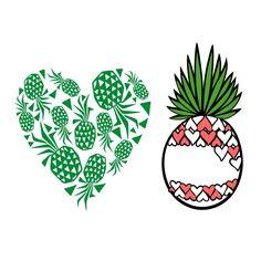 Heart Pineapple SVG Cuttable Design