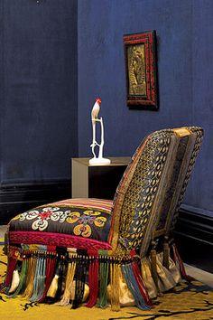 HAUTE BOHEMIANISM | This slipper chair by Ms. Brandolini