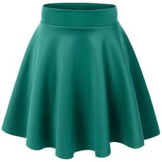 JNTworld Women Stretch high Waist Flared Plain Pleated mini skirt at... ($13) ❤ liked on Polyvore featuring skirts, mini skirts, blue skirt, stretch mini skirt, short mini skirts, pleated skirt and mini skirt