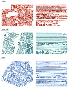 Cities have amazing varieties of block shapes and sizes that give place a distinct character. The artist from Things Organized Neatly highlights these patterns by deconstructing street maps into piles of city blocks organized by size.