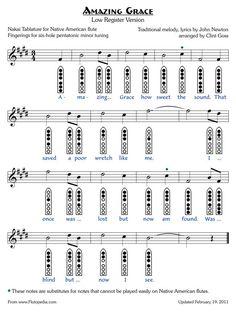 Amazing Grace - Low Version - six-hole Pentatonic Minor