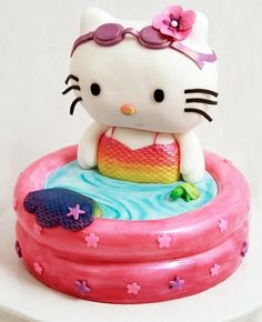 tortas de hello kitty decoradas con fondant