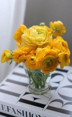 Gorgeous flowers with hues of Pantone's color Freesia pinned from Surtex.  Adored by #PapierFurniture