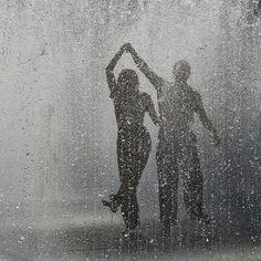 Let's dance in the rain. - Let's dance in the rain… - White Photography, Street Photography, Photography Couples, Rain Photography, Minimalist Photography, Color Photography, Rain Dance, Swing Dancing, I Love Rain