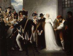 Marie-Antoinette conduite à son exécution le 16 octobre 1793.