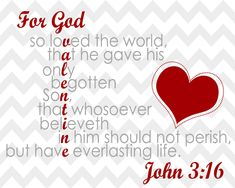 Happy Christian Valentines Day and more Blessings and GOD is LOVE through Christ-Messiah Jesus-Yeshua! My Funny Valentine, Happy Valentines Day, Valentine Ideas, Printable Valentine, Valentine Party, Valentine Crafts, John 3 16, John Kjv, God Is