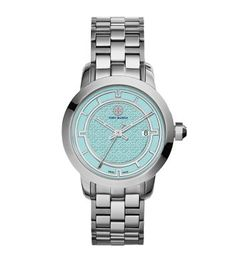 Tory Burch Tory Watch, Stainless Steel/blue, 37 Mm