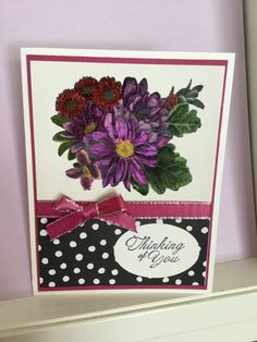 Heartfelt blooms, card cased Linda Bedinger, only I colored my flowers and changed the sentiment. Beautiful stamp set, card made by Debbie Reed.